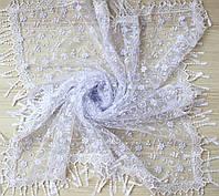 Свадебный церковный ажурный платок (белый)