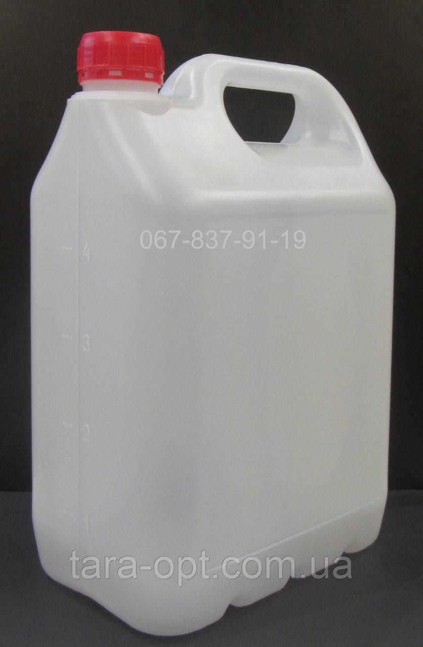 Канистра пластиковая 5 литров емкость со шкалой, фляга 5 л