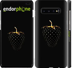 "Чехол на Samsung Galaxy S10 Plus Черная клубника ""3585c-1649-851"""