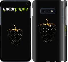 "Чехол на Samsung Galaxy S10e Черная клубника ""3585c-1646-851"""