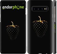 """Чехол на Samsung Galaxy S10 Черная клубника """"3585c-1640-851"""""""