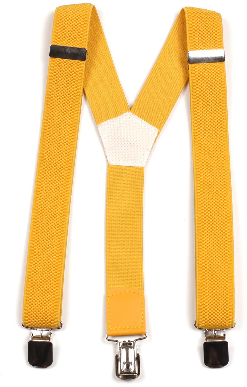 Подтяжки подростковые средние Y30 Top Gal желтые однотонные цвета в ассортименте