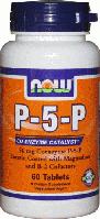 Пиридоксаль-5-Фосфат, Now Foods, P-5-P, 50 mg, Vegetarian 60 Tabs