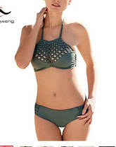 Стильный купальник с ажурной вязкой, оригинального дизайна, фото 2