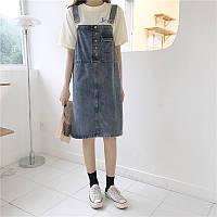 Жіночий модний джинсовий сарафан  розмір М-44