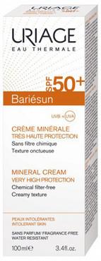 Сонцезахисний мінеральний крем для обличчя і тіла Uriage Bariesun Mineral Cream Very High Protection SPF 50+