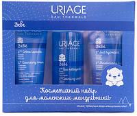 "Набор ""Для маленьких путешественников"" Uriage Bebe (moist milk/50 ml + cl water/100 ml + cl foam/50 ml)"