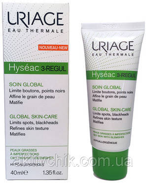 Универсальный уход для жирной и проблемной кожи Uriage Hyseac 3-Regul Global Skin-Care