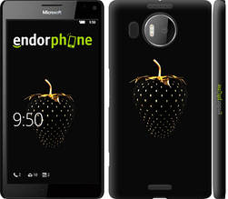 "Чехол на Microsoft Lumia 950 XL Dual Sim Черная клубника ""3585c-407-851"""