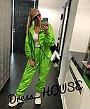Женский спортивный костюм из неоновой плащевки свободный 505687, фото 2