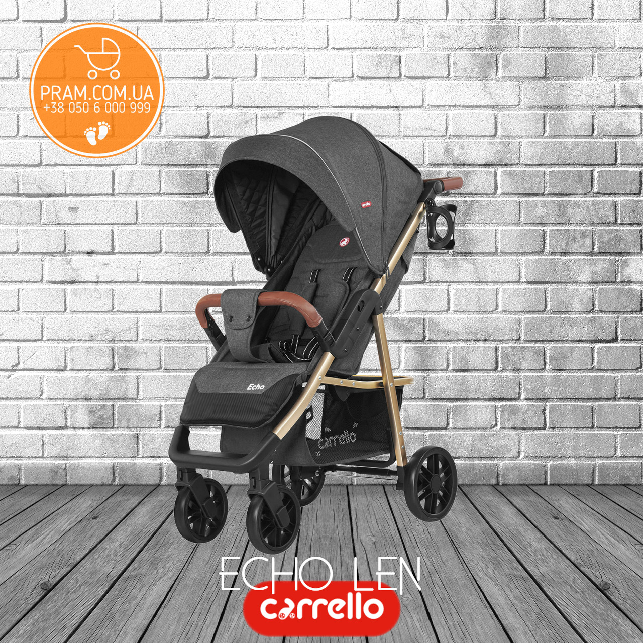 CARRELLO Echo CRL-8508/1 Len прогулочная коляска Midnight Gray Темно-серый