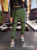 Женские брюки карго с ремешками и накладными карманами 6612364E