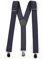 Подтяжки подростковые узкие Y25 Top Gal темный джинс однотонные цвета в ассортименте, фото 1