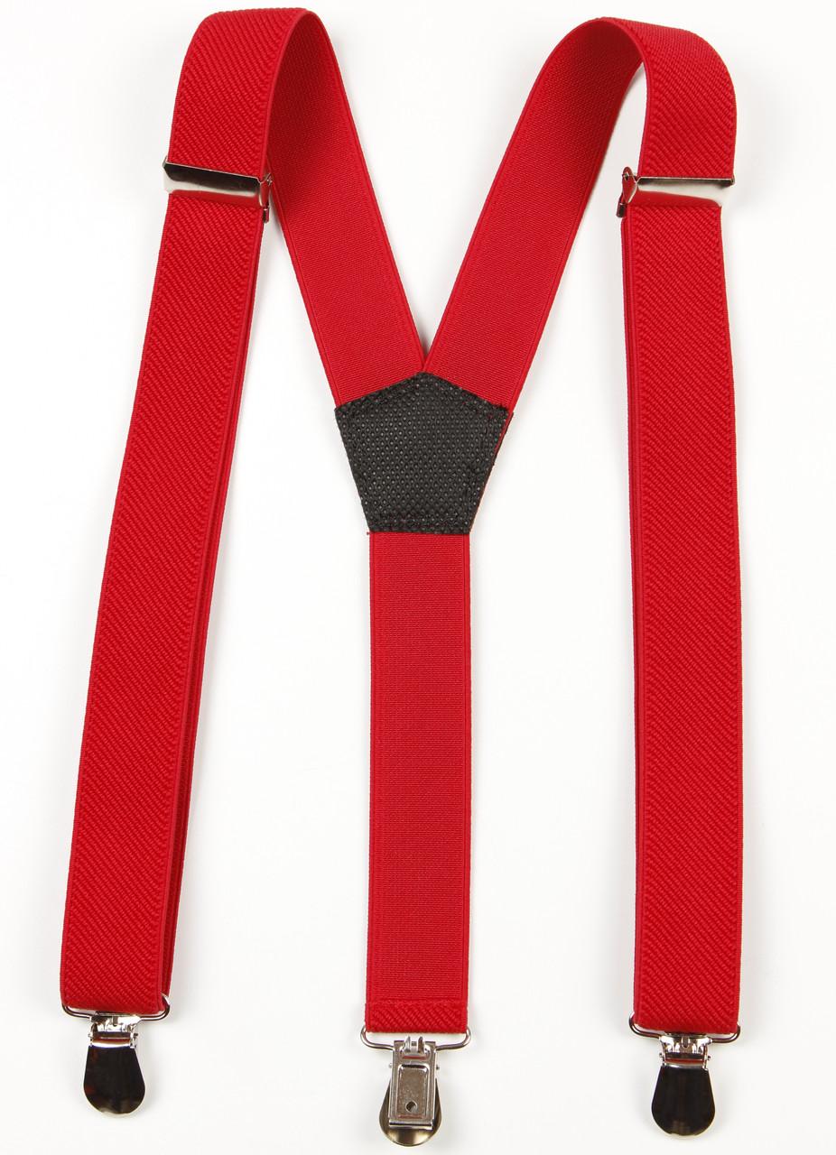 Подтяжки подростковые узкие Y25 Top Gal красные однотонные цвета в ассортименте