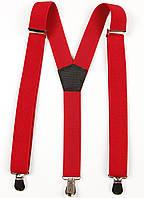 Подтяжки подростковые узкие Y25 Top Gal красные однотонные цвета в ассортименте, фото 1