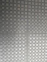 Обои виниловые на флизелине  Grandeco ELUNE EN3201 черные серебристые квадраты полосы 3Д