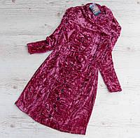 Р. 134-152 Детское платье Вероника велюровое фиолетовое, фото 1