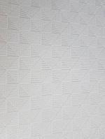 Обои виниловые на флизелине Grandeco ELUNE EN3101 фигуры маленькие треугольники бирюзовые молочные