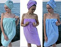 Полотенце - халат для сауны и бани