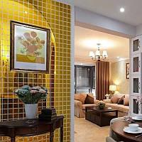 Акриловые декоративные зеркальные наклейки Квадраты, цвет золотистый, 10 шт., размер 2х2см.