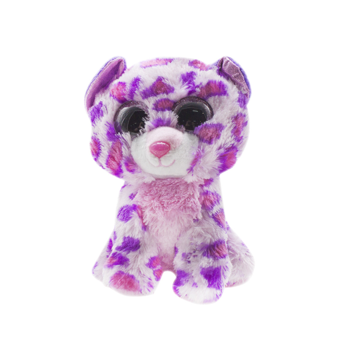 Маленькая мягкая игрушка Глазастик: Леопард (фиолетовый)