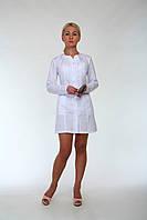 "Медичний халат жіночий ""Health Life"" батист білий 2199"