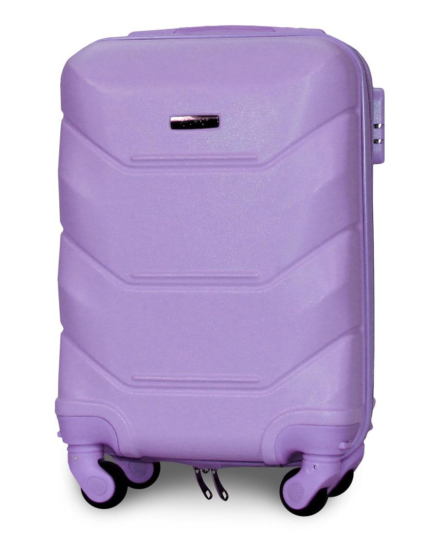 Чемодан Fly К147 мини 53х33х19 см Ручная кладь на 4 колесах Светло-фиолетовый