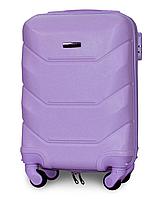 Чемодан Fly К147 мини 53х33х19 см Ручная кладь на 4 колесах Светло-фиолетовый, фото 1