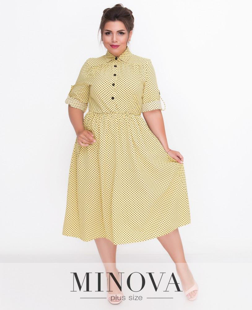Платье-рубашка с расклешенной юбкой. Р. 50-58