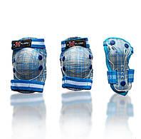 Комплект защитного снаряжения Cooper (голубая в клетку)