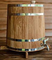 Бочка (жбан) дубовый для напитков 25 литров (вертикальный)