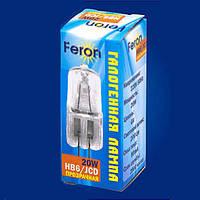 Лампа капсульная галогеновая Feron JCD HB6  220V/20W G4.0 2000H
