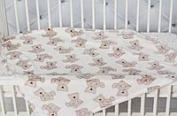 """Детский Плед одеяло  """" Мишка """" для новорожденного в роддом 110*95 в кроватку, коляску"""
