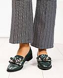 Шикарные женские туфли  лоферы с декором, фото 4