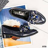 Шикарные женские туфли  лоферы с декором, фото 2