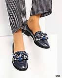 Шикарные женские туфли  лоферы с декором, фото 5