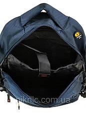 Рюкзак школьный для подростков, старшеклассников, старшая школа, отдел для ноутбука. Синий, фото 3