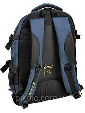 Рюкзак школьный для подростков, старшеклассников, старшая школа, отдел для ноутбука. Синий, фото 2