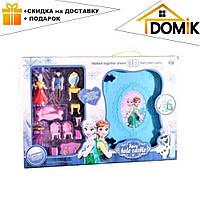 Детский игрушечный кукольный домик-замок в книге-чемодане с куклами LM 2348   дом для кукол Frozen