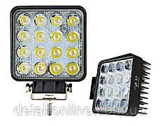 Фара дополнительная LED 48W (16x3W Epistar) квадратная, 3070lm, 9-32V (Flood) 950-990310015