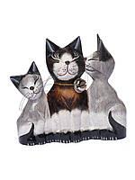 """Семья котов """"Папа,мама,Я"""",высота 15 см"""