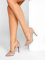 Замшевые женские туфли-лодочки,бежевые 36,37,38,39,40