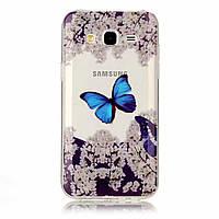 Чехол с рисунком Printed Silicone для Samsung Galaxy J7 Neo J701 Бабочка
