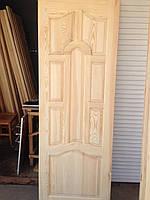 Двери из сосны филенчатые, глухие и под стекло