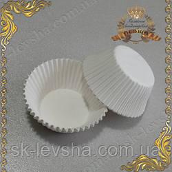 Формы для кексов Белые, бумажные 50 шт.
