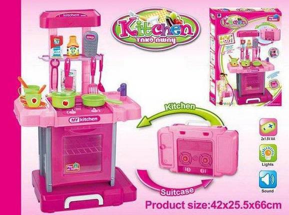 Игровой набор Кухня в чемодане 661-60, ВЫСОТА 66см, СВЕТ, МУЗЫКА, фото 2
