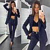 Костюм женский стильный пиджак в полоску на подкладе и брюки Dld1710