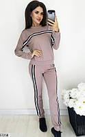 Спортивный костюм женский демисезонный двунить 42-52 размеров, 4 цвета