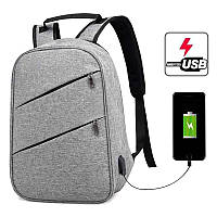 Рюкзак городской Bokun c USB-портом, универсальный рюкзак для работы, учебы, ноутбука, фото 1