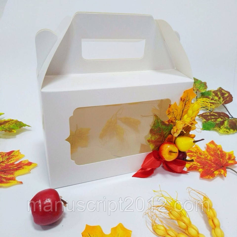 Коробка з ручкою 190х130х90 мм.